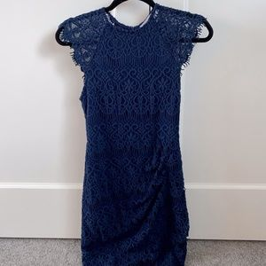 Xenia Boutique Navy lace mini dress